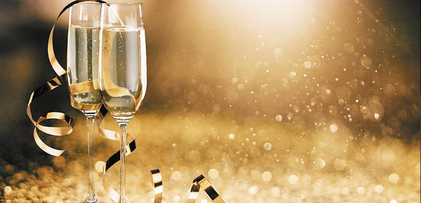 Espumantes na Ceia de Ano Novo